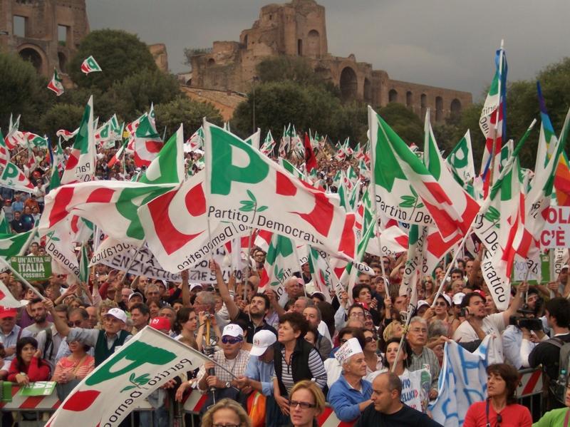 pd manifestazione roma