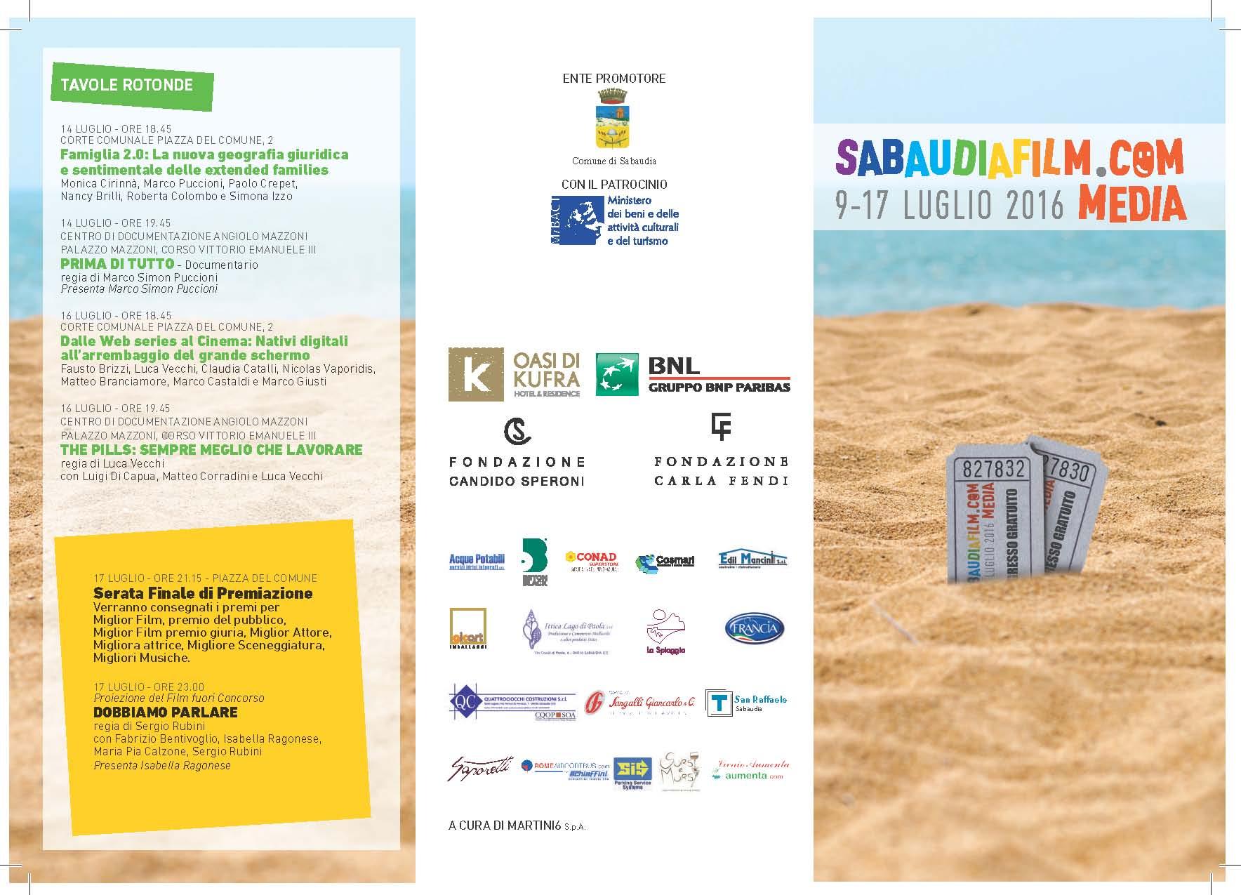 Programma SabaudiaFilm.COMmedia Page 1
