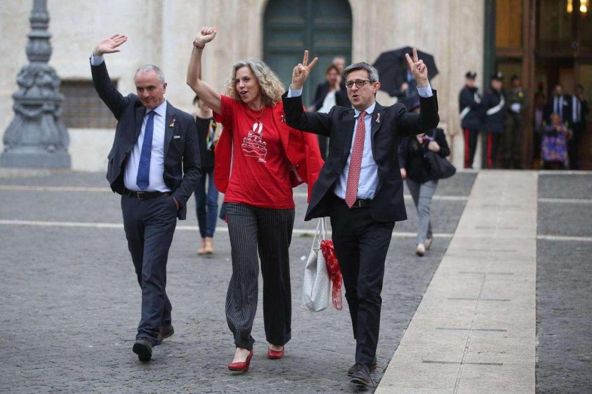 Monica Cirinnà , Sergio Lo Giudice, Giuseppe Lumia