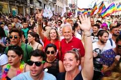 Monica Cirinnà ed Esterino Montino al Gay Pride di Roma