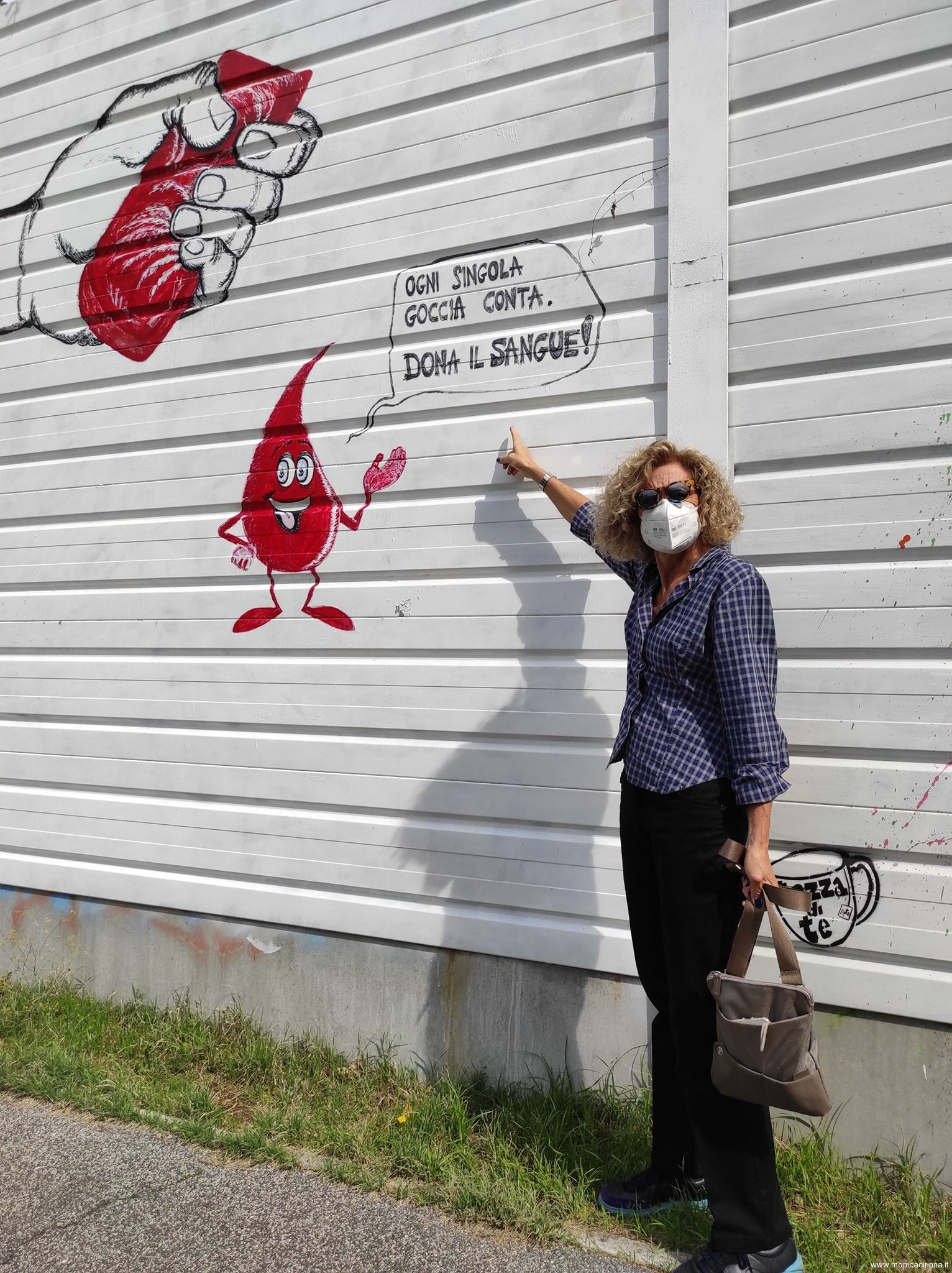 Monica Cirinnà al miglio d'arte a Torraccia