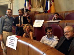 Vendita ACEA - Protesta consiglio comunale - Cirinnà
