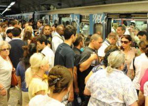 metro B Roma Caos
