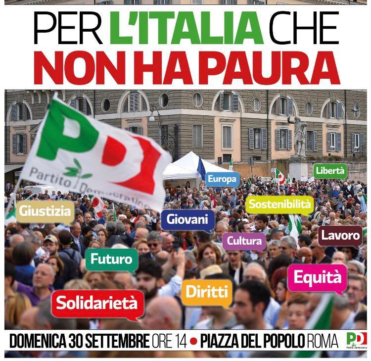 Per l'ìitalia che non ha paura - Manifestazione