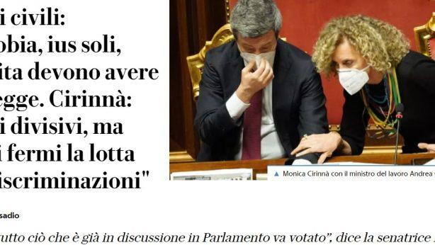 intervista Repubblica Cirinnà